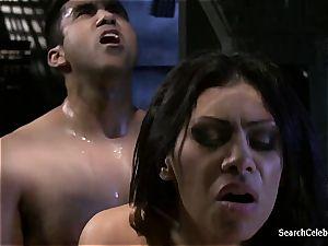 hottie Cassandra Cruz prepared to gargle some enormous schlong