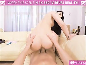 VR porn - Thanksgiving Dinner becomes a kinky 3 way