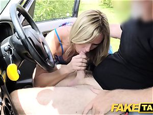faux cab Mum with inborn funbags gets giant brit manmeat