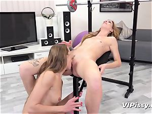 pissing lesbians Alexis Crystal And Barbara jiggly