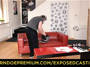 uncovered casting Spicy ash-blonde donk drilled in audition
