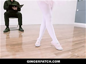 GingerPatch - red-haired Ballerina riding Judges enormous hard-on