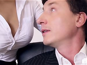 bums BUERO - super-naughty office hook-up concludes with jizm on knockers