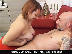 audition ALLA ITALIANA - Italian mature deep rectal plow