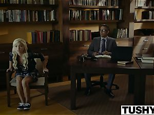 TUSHY.com crazy platinum-blonde buttfuck humped by her Therapist