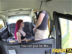 fake taxi Fetish princess in dark-hued leather assfuck creampie