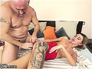 Ballerina Anna Thorne gets a dosage of the granddad manstick