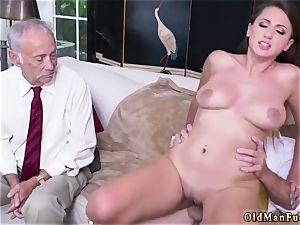 hairy at work fledgling Ivy impresses with her large milk cans and ass