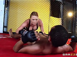 Krissy Lynn gets bi-racial fuckin' in the ring