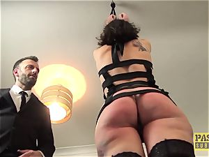 beautiful british crud gagged and dommed by humungous man-meat