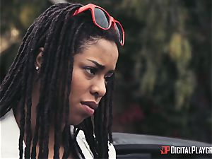 Outdoor bi-racial cunny enjoy with Kira Noir and Jessa Rhodes